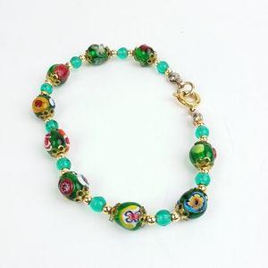 Italian Evil Eye Venetian Murano Glass Bracelet